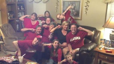 The family 4 years ago watching the LSU game