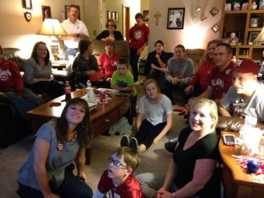 The family 2 years ago watching the LSU game
